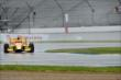 Ryan Hunter-Reay qualifies in the wet at IMS -- Photo by: Daniel Incandela