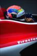 Justin Wilson in his car -- Photo by: Eric Anderson