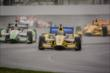 Teammates Marco Andretti, Carlos Munoz and Ryan Hunter-Reay practice at IMS -- Photo by: Forrest Mellott