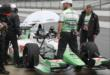 Sebastien Bourdais in pit lane -- Photo by: Joe Skibinski