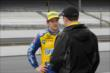 Marco Andretti in pit lane -- Photo by: Joe Skibinski