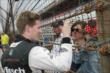 Josef Newgarden greets fans at IMS -- Photo by: Joe Skibinski