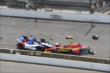 Mikhail Aleshin crashes into Sebastian Saavedra at the start of the Grand Prix of Indianapolis -- Photo by: Chris Jones