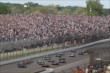 Cars heading down the front stretch during the Grand Prix of Indianapolis -- Photo by: Chris Jones