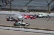 Crash prior to the start of the Grand Prix of Indianapolis -- Photo by: Chris Jones
