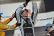Simon Pagenaud celebrates winning the Grand Prix of Indianapolis -- Photo by: Chris Owens