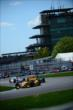 Ryan Hunter-Reay leads a group through the esses -- Photo by: Eric Anderson