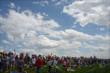 Fans in the Viewing Mounds at IMS -- Photo by: John Cote