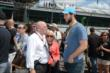 Derrick Walker greets Andrew Luck -- Photo by: Jim Haines