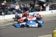 Carlos Huertas and Justin Wilson in pit lane -- Photo by: Jim Haines