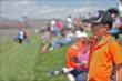 Fans look on during the Grand Prix of Indianapolis -- Photo by: Shawn Gritzmacher