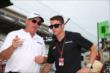 James Davison speaks with Al Unser Jr. -- Photo by: Chris Jones