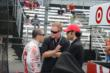 Tony Kanaan and Dario Franchitti speak to the media -- Photo by: Jim Haines