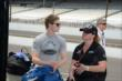 Josef Newgarden with team owner Sarah Fisher -- Photo by: Jim Haines