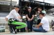 Sebastien Bourdais and Sebastian Saavedra in their pit box -- Photo by: Jim Haines