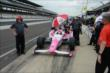 Pippa Mann in pit lane -- Photo by: Jim Haines