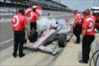 Scott Dixon preps his car for practice -- Photo by: Jim Haines