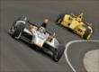 Alex Tagliani and Helio Castroneves -- Photo by: Dan Boyd