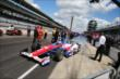 Takuma Sato heads out for qualifying -- Photo by: Chris Jones