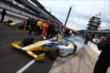 Marco Andretti heads out for qualifying -- Photo by: Chris Jones