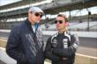 Townsend Bell talks with Oriol Servia -- Photo by: Chris Jones