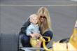 Ryan Hunter-Reay's wife and son in pit lane -- Photo by: Chris Jones