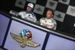 Ed Carpenter and JR Hildebrand during a press conference -- Photo by: Chris Jones