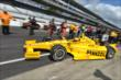 Helio Castroneves heads out for qualifying for the Indianapolis 500 -- Photo by: Chris Owens