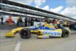 Marco Andretti heads out for qualifying for the Indianapolis 500 -- Photo by: Chris Owens