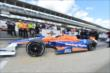 Charlie Kimball heads out for qualifying for the Indianapolis 500 -- Photo by: Chris Owens