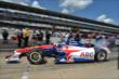 Takuma Sato heads out for qualifying for the Indianapolis 500 -- Photo by: Chris Owens