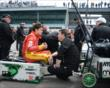 Sebastian Saavedra in pit lane -- Photo by: Jim Haines