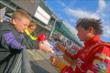 Sebastian Saavedra signs autographs -- Photo by: Mike Harding