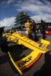 Helio Castroneves in pit lane -- Photo by: Shawn Gritzmacher