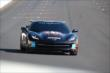Sam Schmidt takes laps in specially made corvette around IMS -- Photo by: Bret Kelley