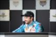 James Hinchcliffe in a press conference -- Photo by: Dana Garrett