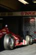 Scott Dixon's car in the garage -- Photo by: Eric Anderson