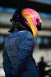 Pippa Mann in pit lane -- Photo by: Eric Anderson