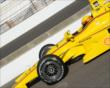 Helio Castroneves in pit lane -- Photo by: Jim Haines
