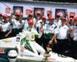Ed Carpenter and crew after winning the pole -- Photo by: Jim Haines