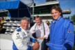 Mario Andretti Bobby Unser and Nick Goepper -- Photo by: Chris Jones