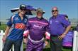 Graham Rahal and Bobby Rahal with Larry the Cable Guy -- Photo by: Dana Garrett