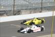 Simon Pagenaud and Jacques Villeneuve -- Photo by: Jim Haines