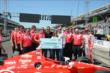 Scott Dixon wins the Tag Heuer Pit Stop Competition -- Photo by: Jim Haines