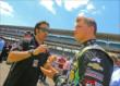 Dario Franchitti speaks with Sage Karam -- Photo by: Mike Harding