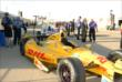 Ryan Hunter-Reay's car in Gasoline Alley -- Photo by: Mike Young