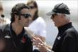 Dario Franchitti chats with Rick Mears -- Photo by: Shawn Gritzmacher