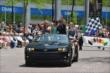Simon Pagenaud at the 500 Parade -- Photo by: Dana Garrett