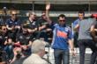 Graham Rahal waves to the crowd -- Photo by: Jim Haines