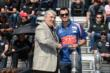 Graham Rahal receives his starter's ring -- Photo by: Jim Haines